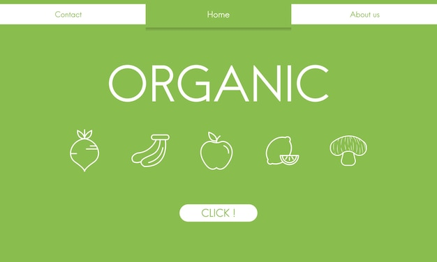 Illsutrated de fondo de alimentos orgánicos