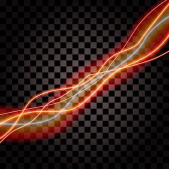 Iluminación eléctrica trueno tormenta resplandor brillo vector