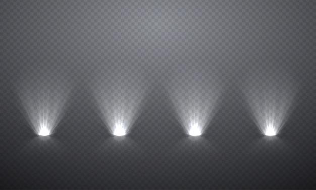 Iluminación de la escena desde abajo, efectos transparentes.