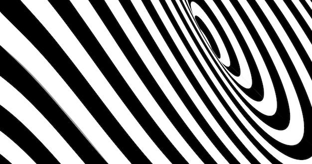 Ilusión óptica de vector despojado de fondo en espiral.