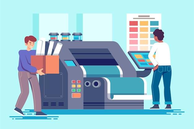 Se ilustra la industria de la impresión plana