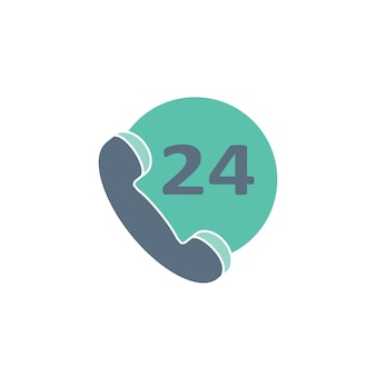 Ilustración de 24 horas de atención al cliente
