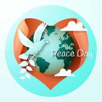 Ilustración 3d del vector del día internacional de la paz