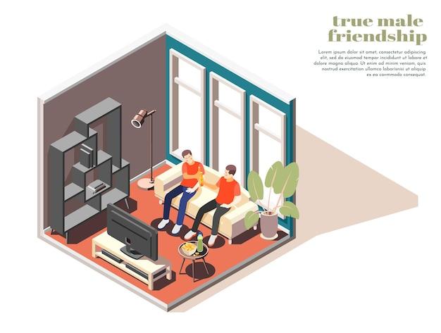 Ilustración 3d de verdadera amistad