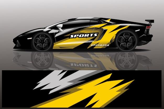 Ilustración de abrigo de calcomanía de coche deportivo