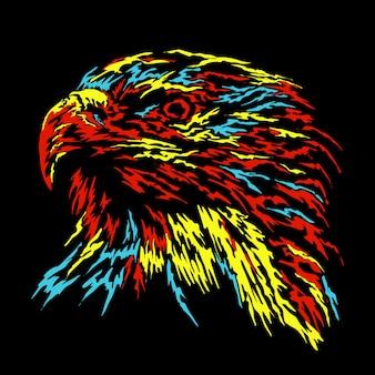 Ilustración abstracta del águila