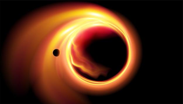 Ilustración abstracta del agujero negro