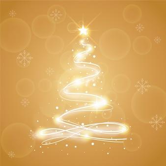 Ilustración abstracta del árbol de navidad