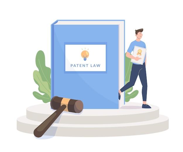 Ilustración abstracta del concepto de derecho de patentes