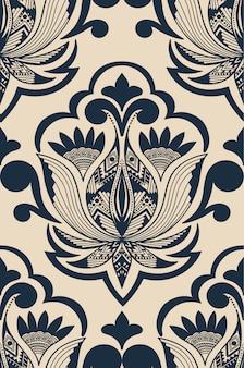 Ilustración abstracta de damasco