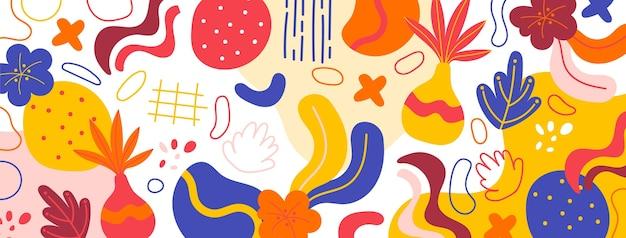 Ilustración abstracta de diseño plano
