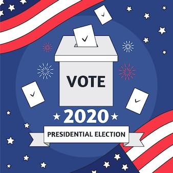 Ilustración abstracta para las elecciones presidenciales estadounidenses de 2020