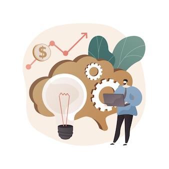 Ilustración abstracta de inteligencia empresarial en estilo plano