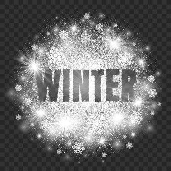 Ilustración abstracta de invierno