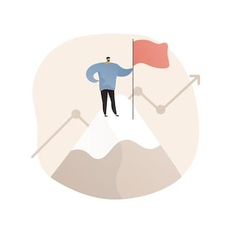 Ilustración abstracta de liderazgo en estilo plano