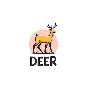 Ilustración abstracta de logo de ciervo