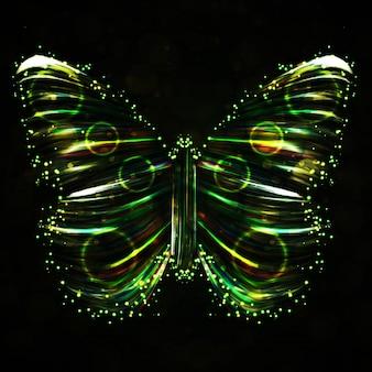 Ilustración abstracta de mariposa brillante