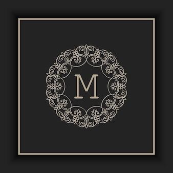 Ilustración abstracta monograma ornamental