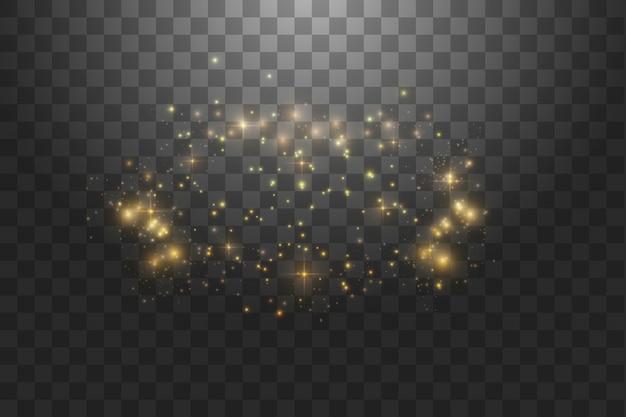Ilustración abstracta de onda de brillo blanco. rastro de polvo de estrellas blancas partículas brillantes aisladas sobre fondo transparente. concepto mágico