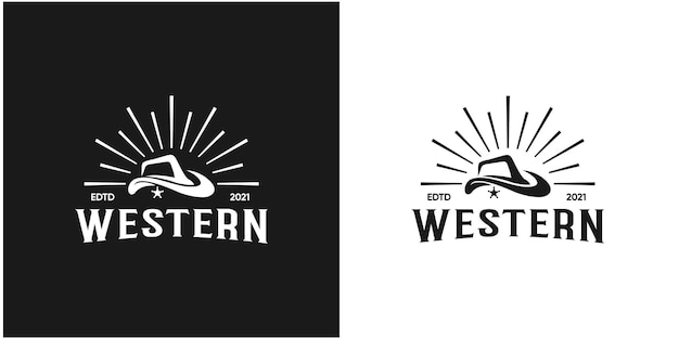 Ilustración abstracto sombrero occidental, sombrero de vaquero
