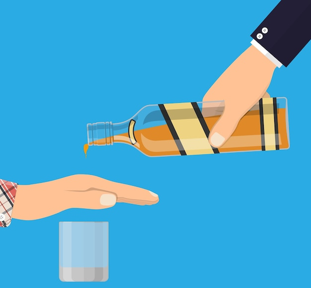 Ilustración de abuso de alcohol