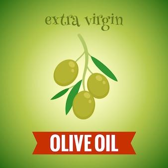 Ilustración de aceite de oliva virgen extra