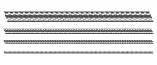 Ilustración de acero reforzado de construcción sobre fondo blanco