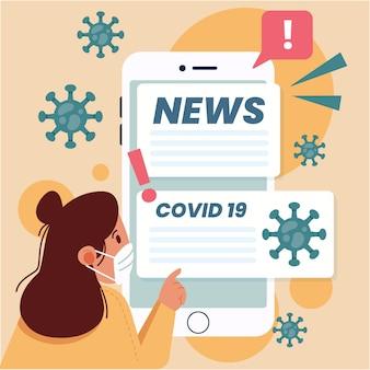 Ilustración de actualización de coronavirus