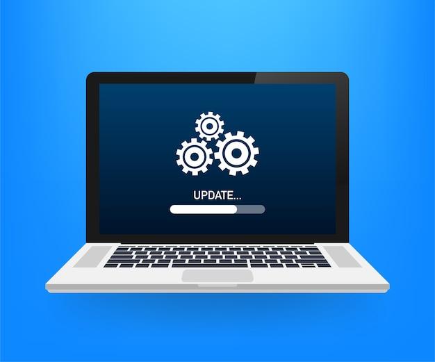 Ilustración de actualización de software del sistema
