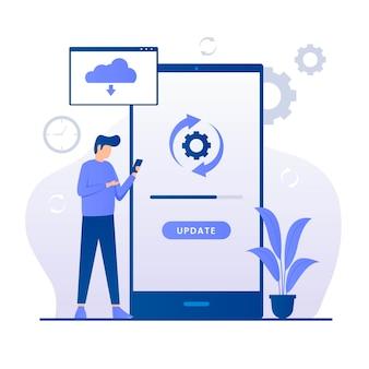 Ilustración de actualización de software