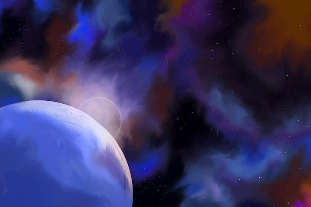 Ilustración acuarela colorida del universo