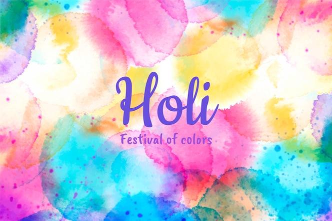 ilustración acuarela festival holi