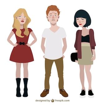 Ilustración de adolescentes modernos