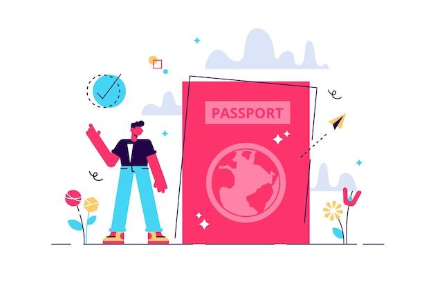Ilustración del aeropuerto. aeródromo con pasajeros aéreos y equipaje.