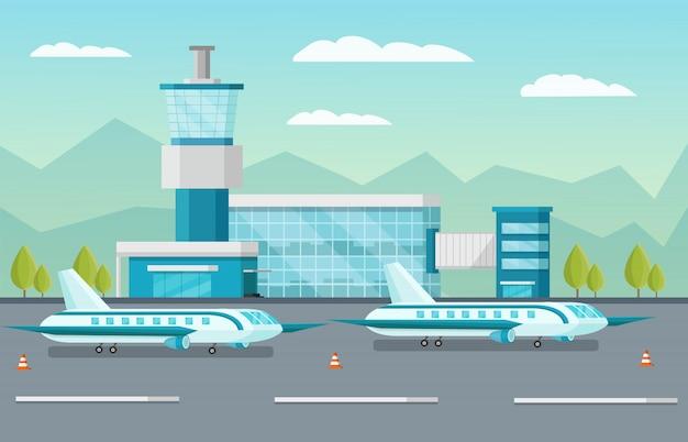 Ilustración del aeropuerto