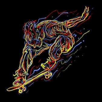 Ilustración de agarre de skate