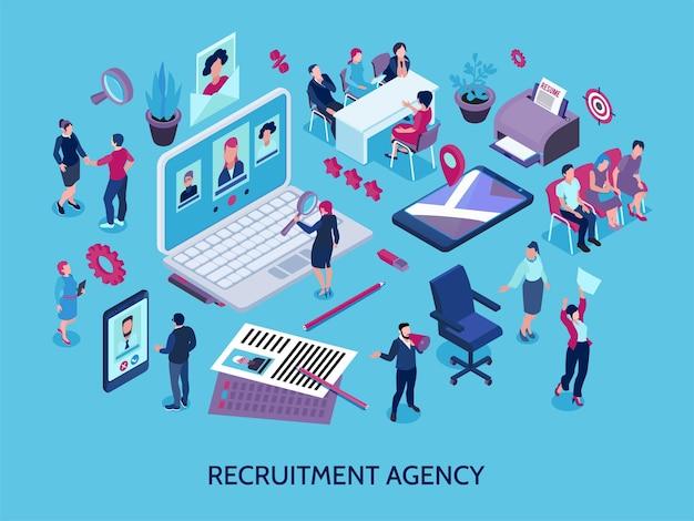 Ilustración de agencia de contratación
