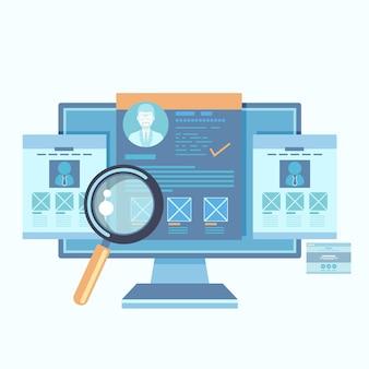 Ilustración de agencia de plataforma de contratación.