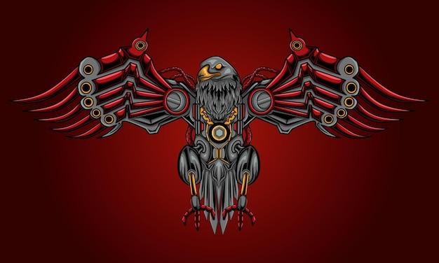 Ilustración de águila steampunk