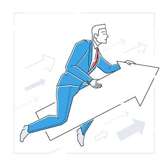Ilustración aislada de estilo de diseño de línea de establecimiento de destino