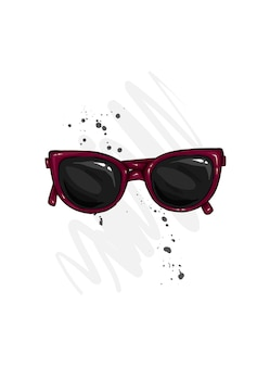 Ilustración aislada de gafas.