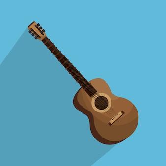 Ilustración aislada del instrumento de guitarra