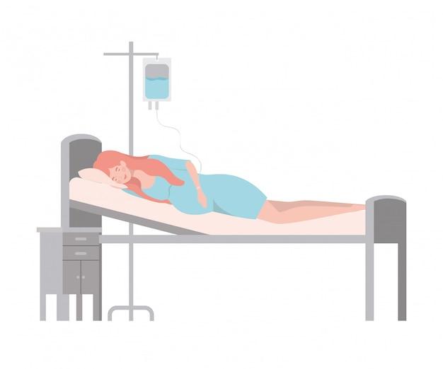 Ilustración aislada de la mujer embarazada