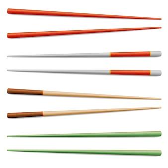 Ilustración aislada de palillos de comida asiática