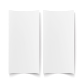 Ilustración aislada de papel blanco en blanco