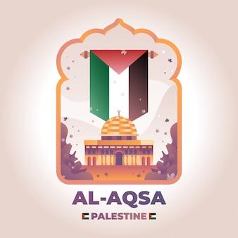 Ilustración de al aqsa palestina