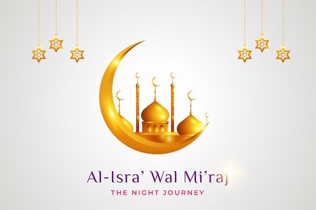 Ilustración de al isra 'mi'raj el viaje nocturno del profeta muhammad