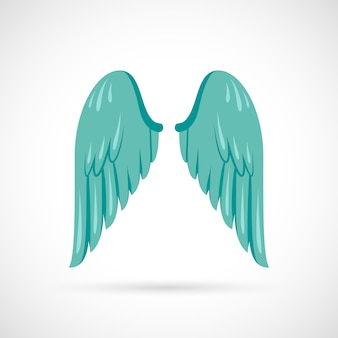 Ilustración de ala plana