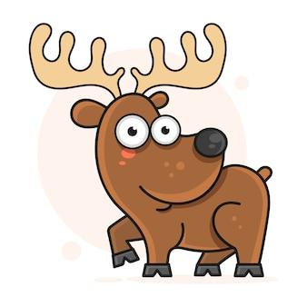 Ilustración alegre del vector de los ciervos
