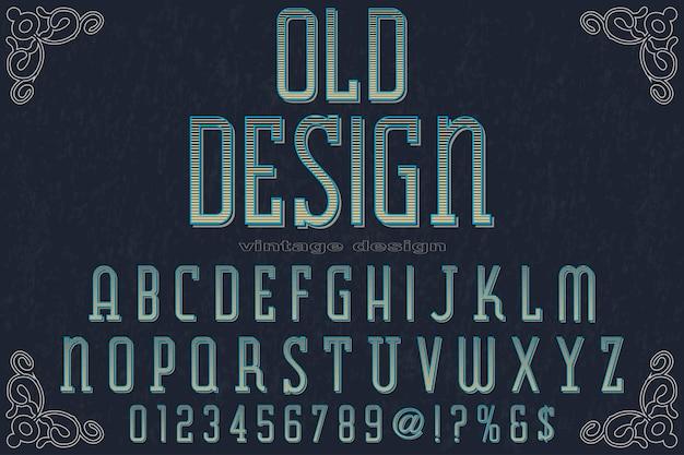 Ilustración de alfabeto de letras vintage
